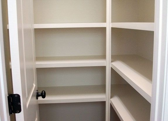 Pantry Shelving Lot Number Alotnumber Spacious Walk In Pantry With Wood Shelving New