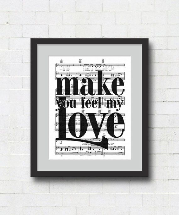 Make You Feel My Love Art Print 8x10 Or 11x14 Adele Bob
