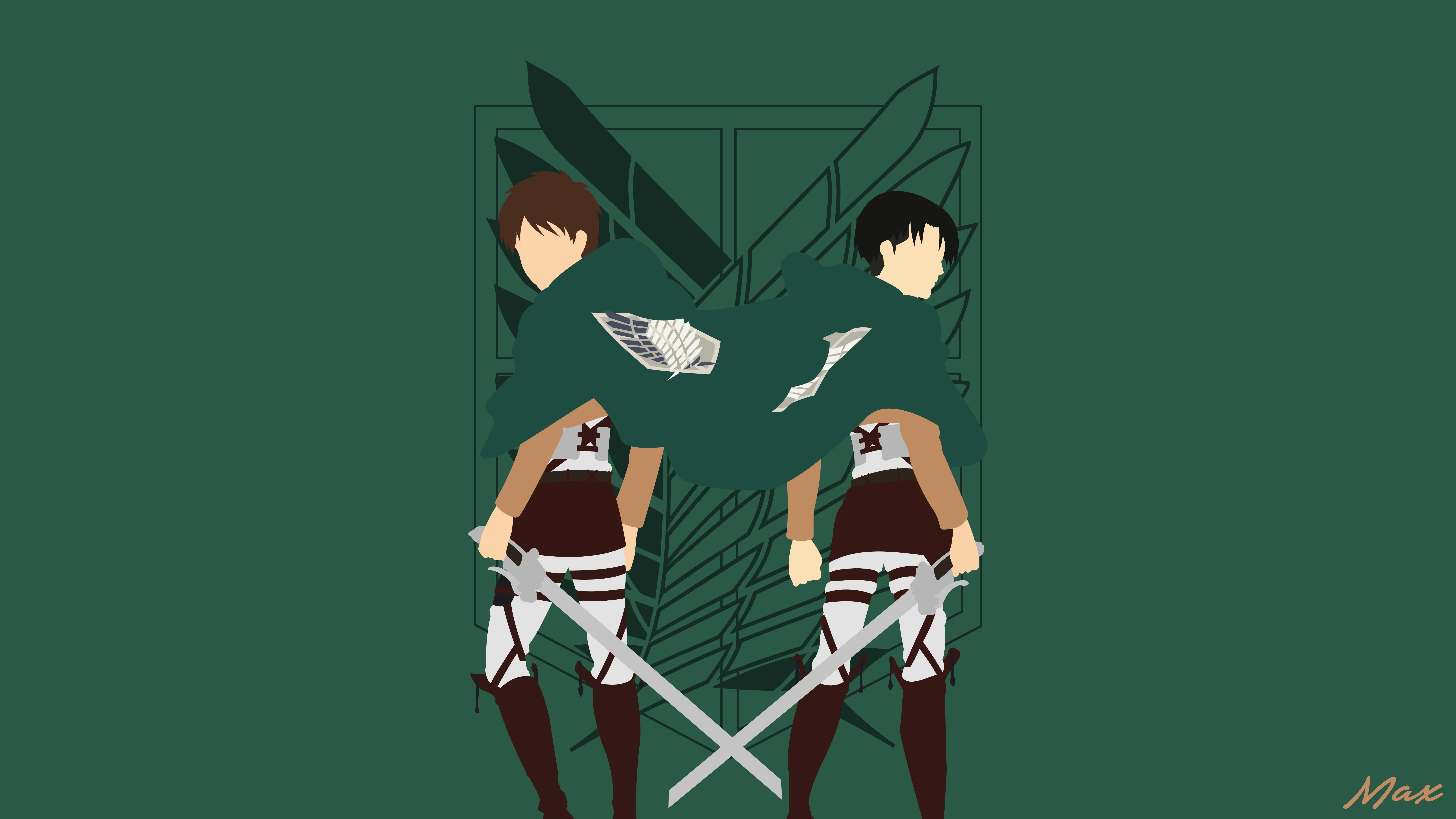 Anime Attack On Titan Eren Yeager Levi Ackerman 8k Wallpaper Hdwallpaper Desktop Attack On Titan Attack On Titan Anime Anime