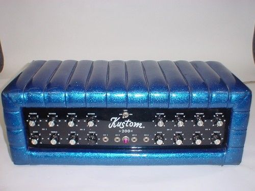Kustom K200 B5 K200 Amp P A Guitar Amp Head Amp Blue Sparkle Cool