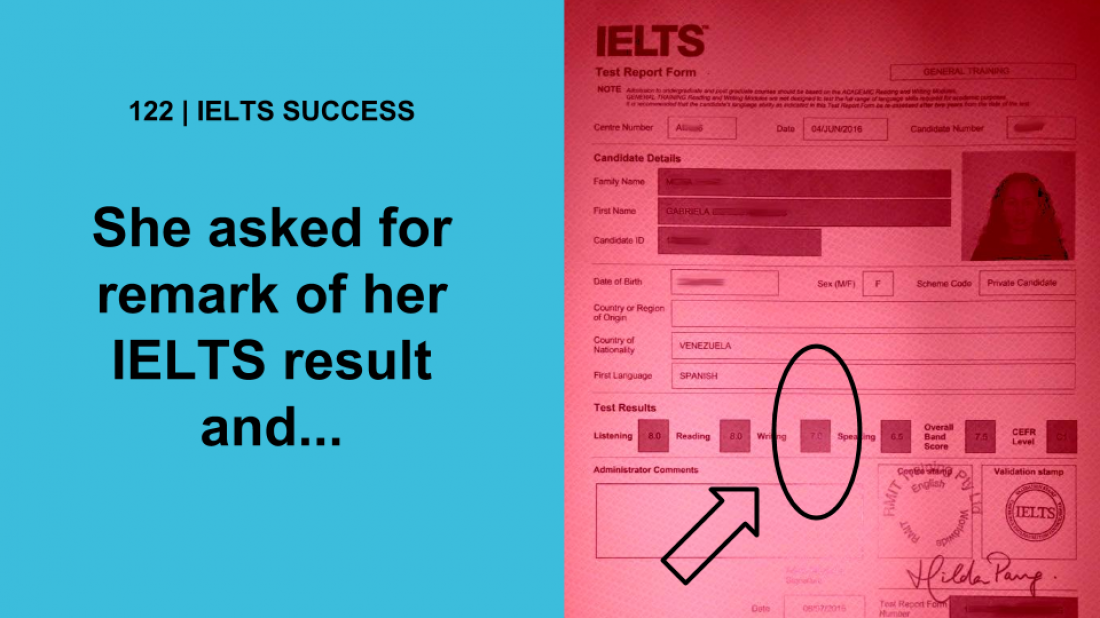 how to remark ielts result british council
