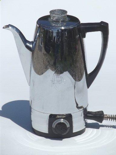 Sunbeam Coffeemaster Coffee Percolator 1950s Vintage Maker Pot
