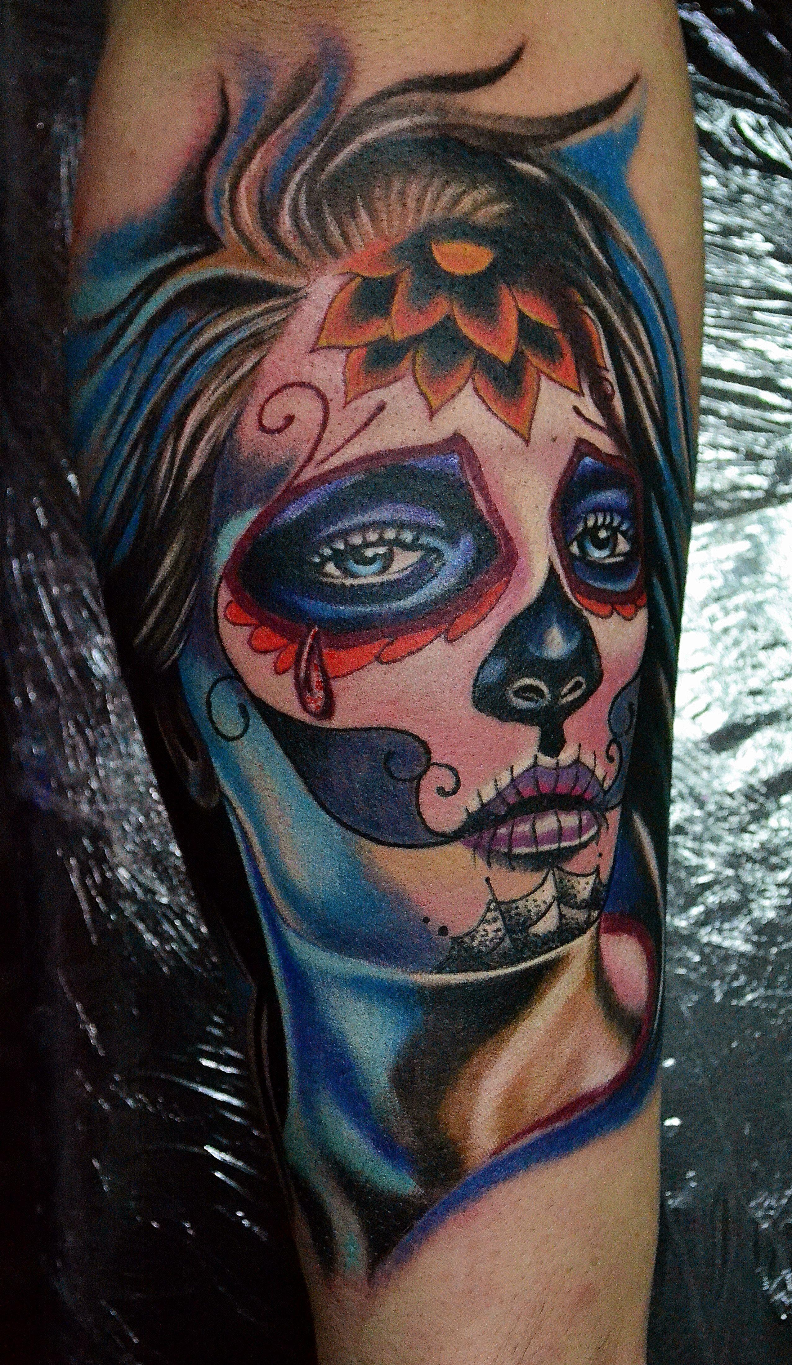 Catrina Tattoo Color Tattoos Tattoos Color Tattoo Photography