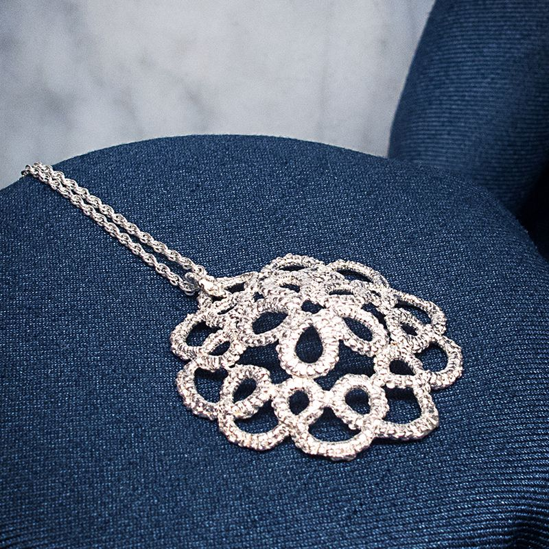 Cupola silver lace necklace 13th anniversary