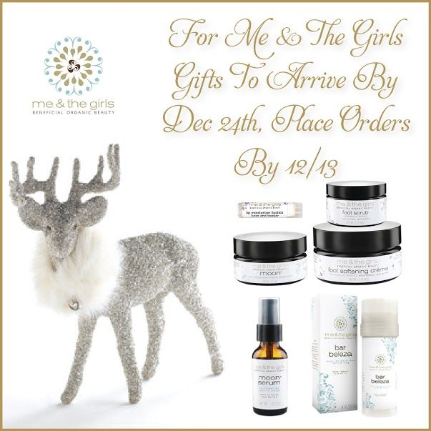 SHIPPING BEFORE CHRISTMAS! – Me & The Girls 100% Vegan, 99% Organic Anti-Aging Skincare Products