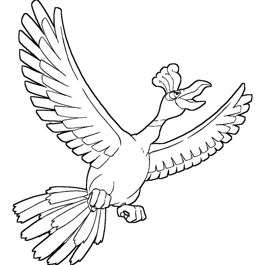 Image result for ho-oh coloring pages | Rylie\'s Pokemon Cake | Pinterest