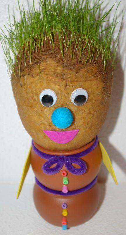 Monsieur patate herbe cheveux bricolage pinterest monsieur patate la fete des pere et - Activite manuelle jardinage ...