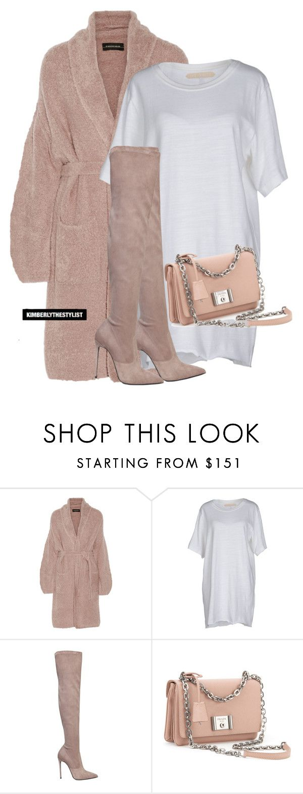 """""""Untitled #2391"""" by whokd ❤ liked on Polyvore featuring By Malene Birger, Off-White, Le Silla and Prada"""