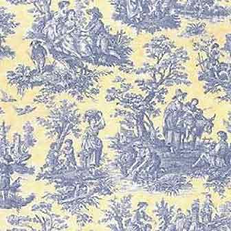 Country Life Vintage Lake Waverly Fabric With Images Waverly Wallpaper Toile Fabric Blue Toile