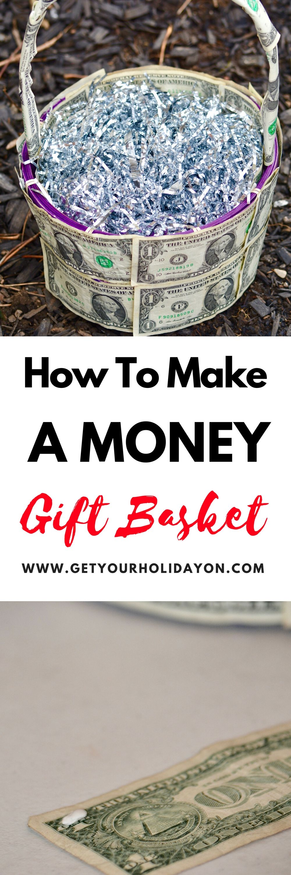 How to create a money gift basket filled easter baskets easter how to create a money gift basket negle Images
