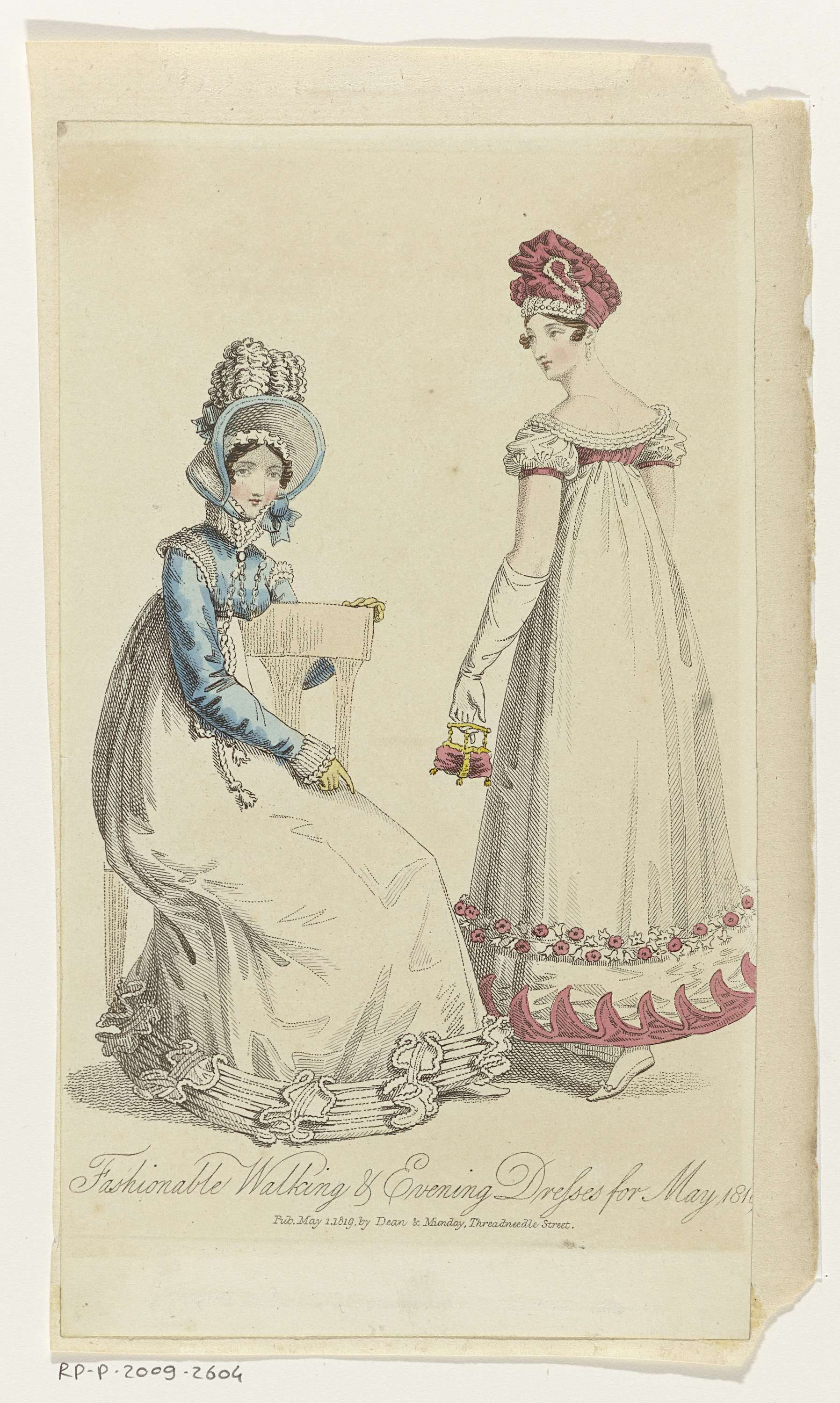 Fashionable Walking & Evening Dresses for May 1819
