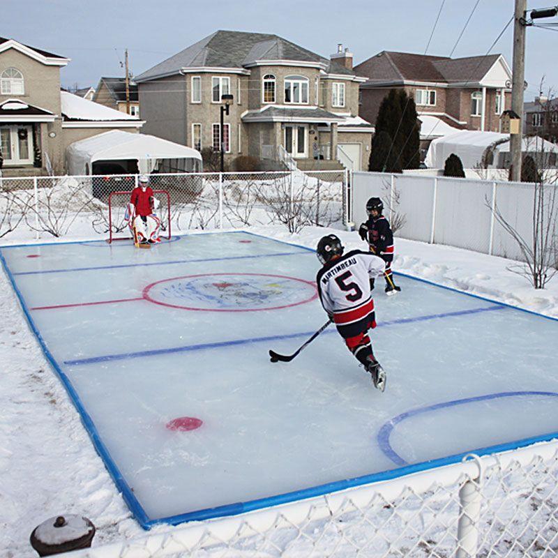 Backyard Ice Rink Rinks Pinterest Backyard Ice Rink - Backyard synthetic ice rink