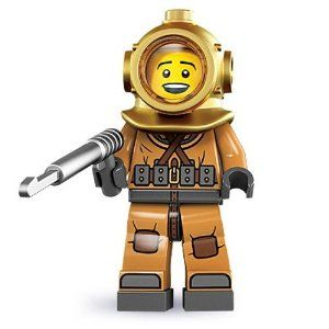 """LEGO® Diver 8833 Series 8 Minifigure by LEGO. $6.99. Diver. 8833-6. Collectable Minifigures. Series 8. """"There's always something new another hundred fathoms down.""""If he could, the Diver would spend his entire life beneath the sea. He's a born explorer, but instead of climbing mountains or looking for lost valleys, he's dedicated his life to plumbing the ocean depths in search of new discoveries and the answers to old mysteries.Thanks to his weighted belt and b..."""