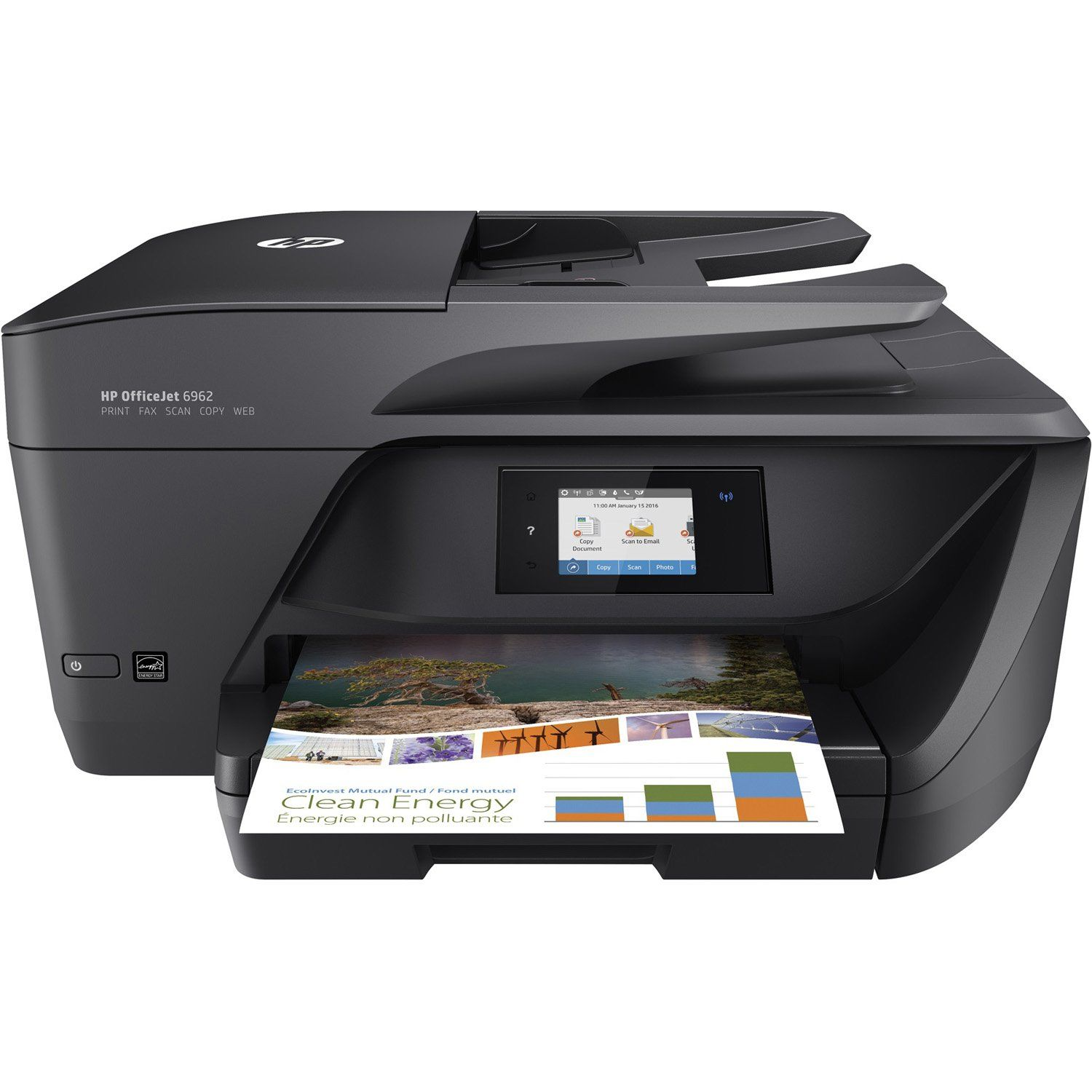 Hp Officejet Pro 6962 All In One Printer Black Hp Officejet Pro