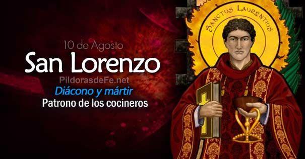 Resultado de imagen de san lorenzo santo