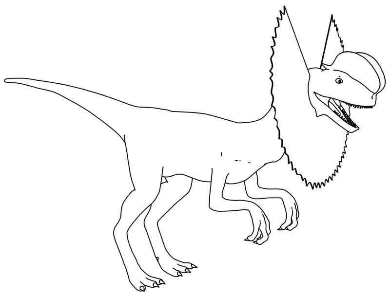Dilophosaurus Dinosaur Coloring Page Di 2020