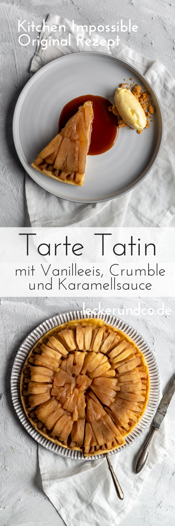 Tarte Tatin mit Vanilleeis aus Kitchen Impossible | LECKER&Co | Foodblog aus Nürnberg