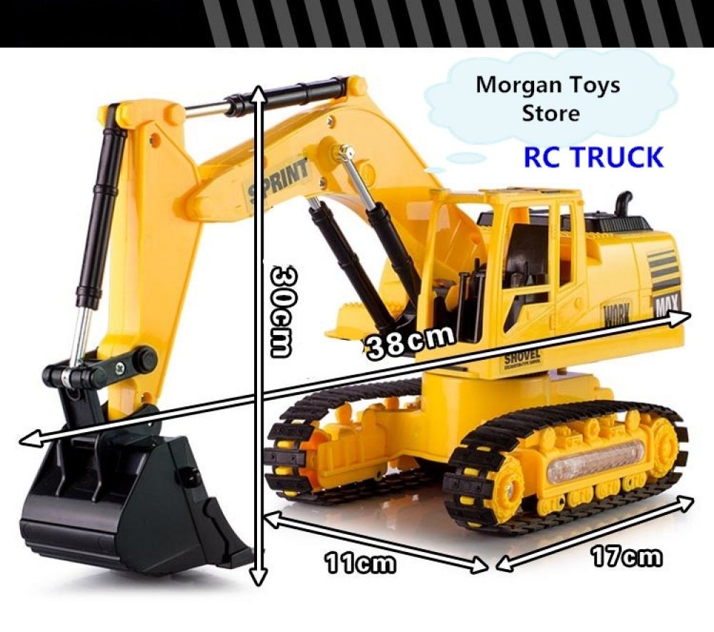 Kids Children Toys Gift 1//24 scale 8 Channel Full Functional RC Crane