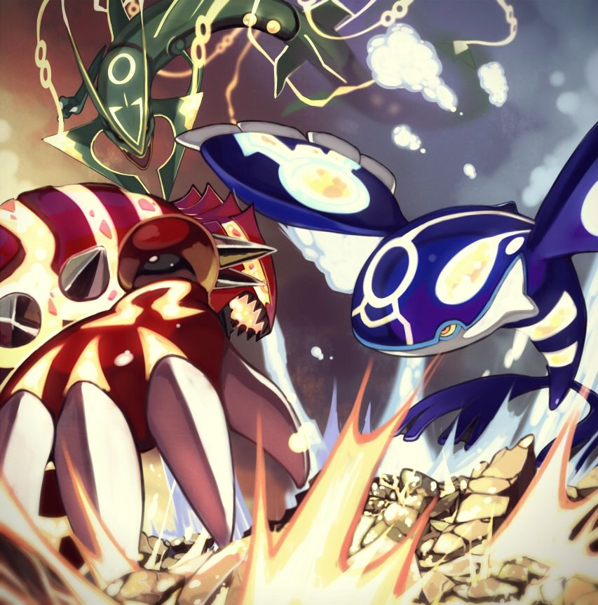 Primal Kyogre Vs Primal Groudon pokémon/#1804900 - zerochan | pokemon | pinterest | pokémon, anime