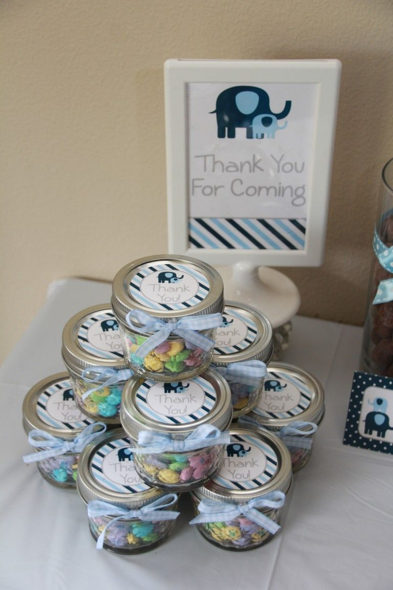 Perfect Elephant Baby Shower Favors By 5M Creations #babyshowerfavors