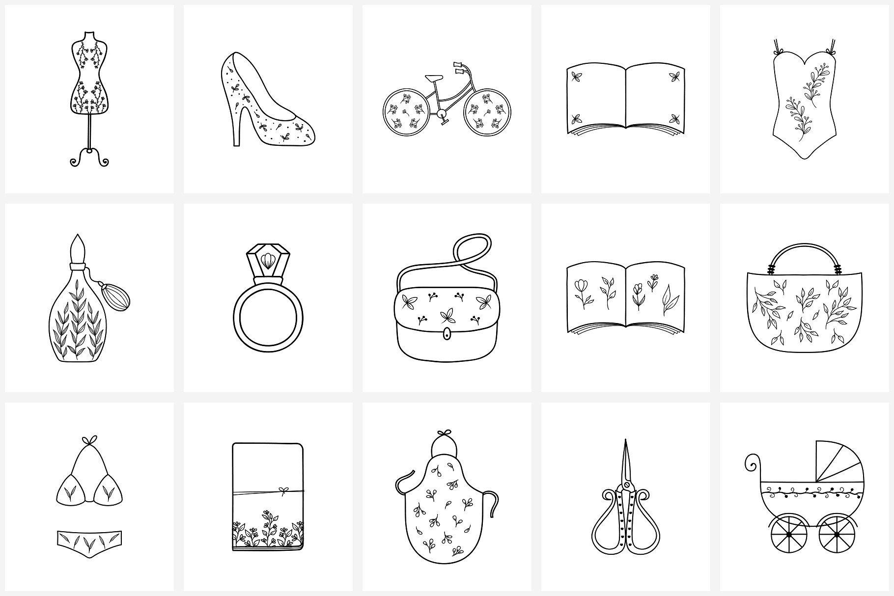 100 Hand Drawn Logo Elements (met afbeeldingen)