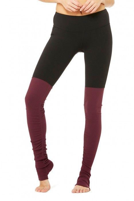 fad1766e9f Goddess Legging - Black/Deep Plum - Goddess - Collections | ALO Yoga Best  Leggings