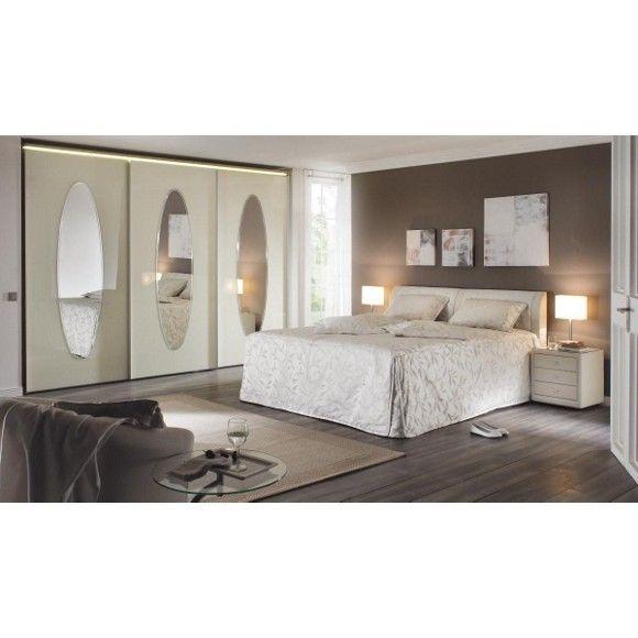 Polsterbett von ESPOSA inklusive Lattenrost und 5-Zonen-Matratze - schlafzimmer mit eckschrank