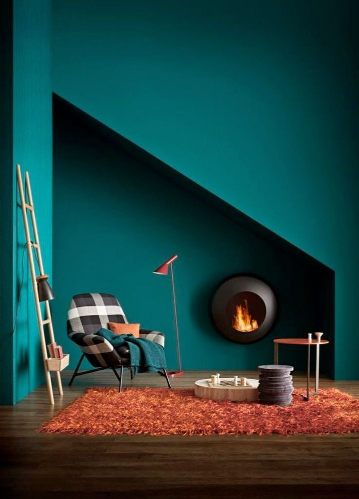 Farbkombinationen Wandfarbe Teal Wall Paint | Teal Painted Walls, Teal Walls, House Colors