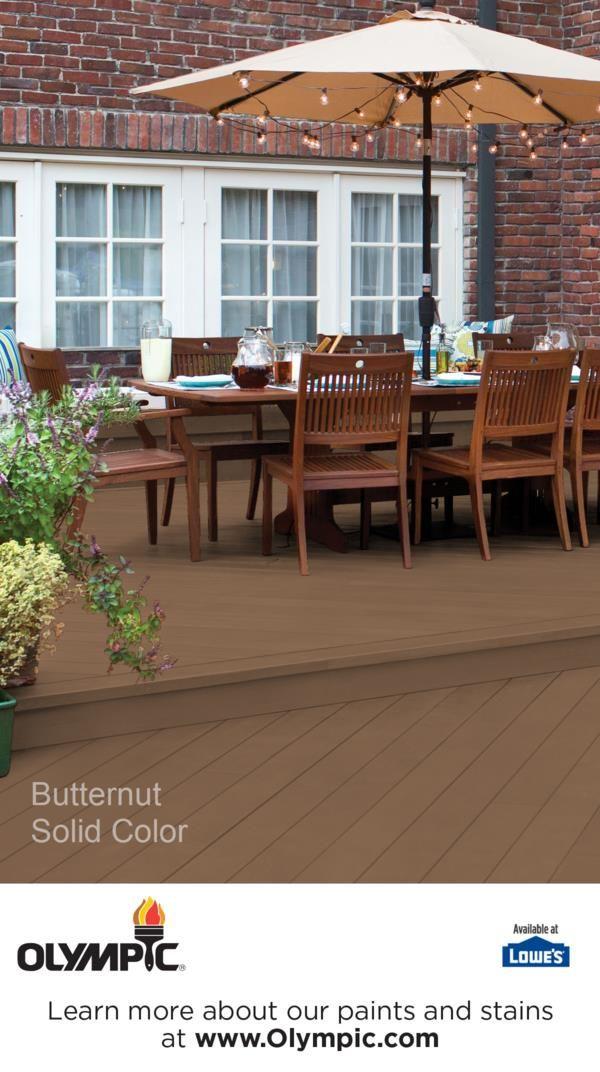 Butternut | Decking, Deck colors and Exterior paint colors