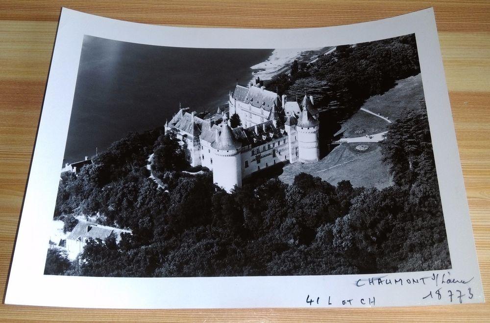 """ANCIENNE PHOTO AÉRIENNE de ROGER HENRARD 1949 """" CHAUMONT S/L """" collection perso"""