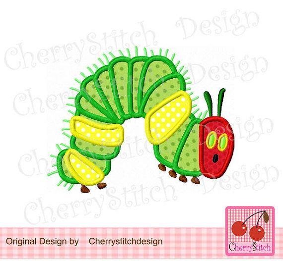 Very Hungry Caterpillar Caterpillar Embroidery Design 4x4 5x7 6x10