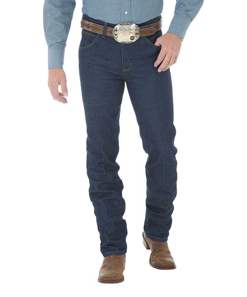 Details about mens wrangler jeans 29x30 dark denim blue