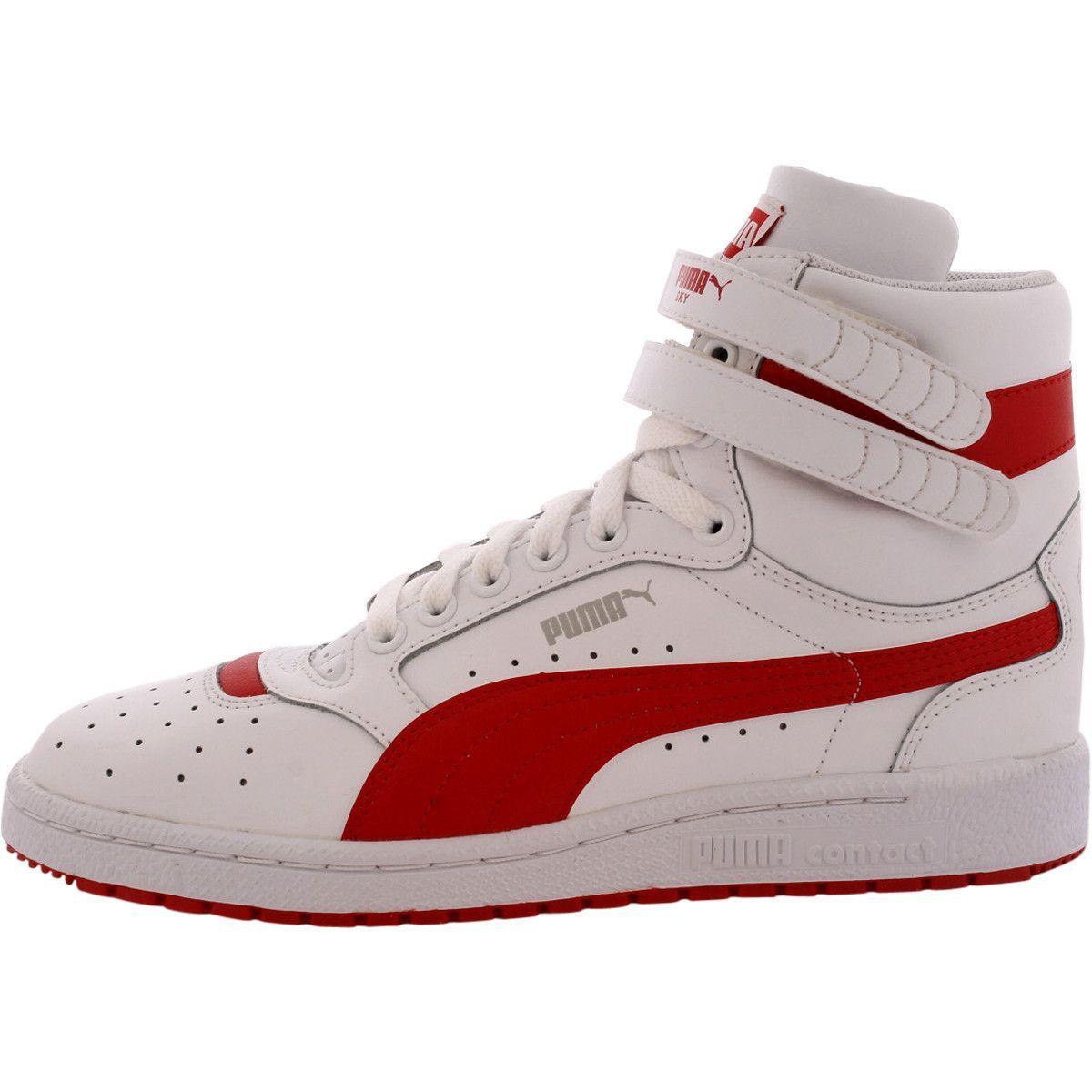b396b7e34584 Puma - Boys  Sky II Hi Jr Sneakers (Big Kid) - White Red