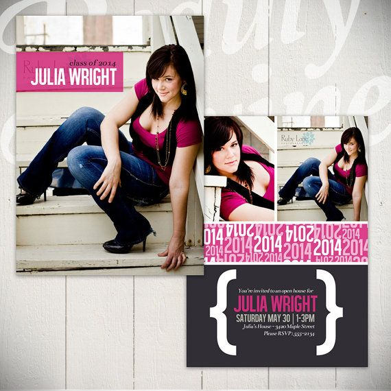 Graduation Announcement Template Hit The Runway Card B  X