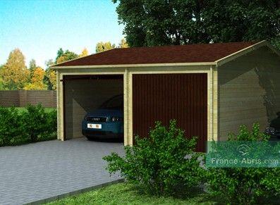 garage double en bois 44 mm garages en bois pinterest garage and home. Black Bedroom Furniture Sets. Home Design Ideas