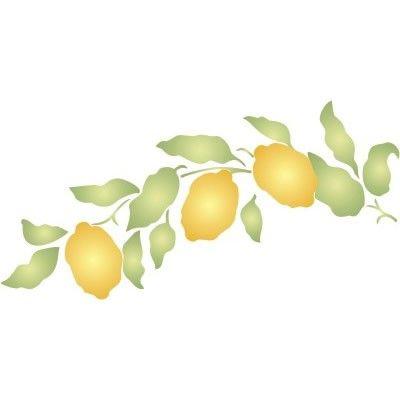 Lemon Bough Stencil Kitchen Cupboard Stencil Ideas Stencils