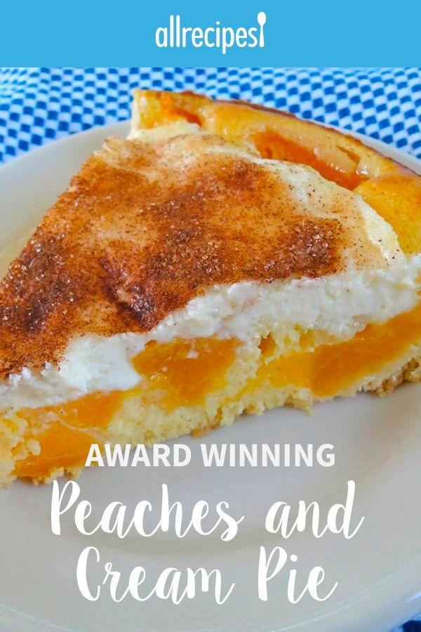 Award Winning Peaches and Cream Pie |