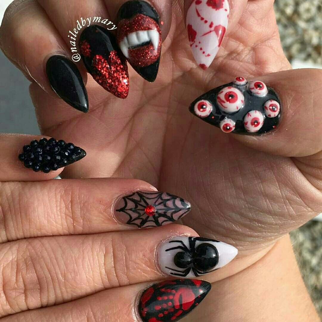 Pin by francheska garcia on nails | Halloween nail designs ...