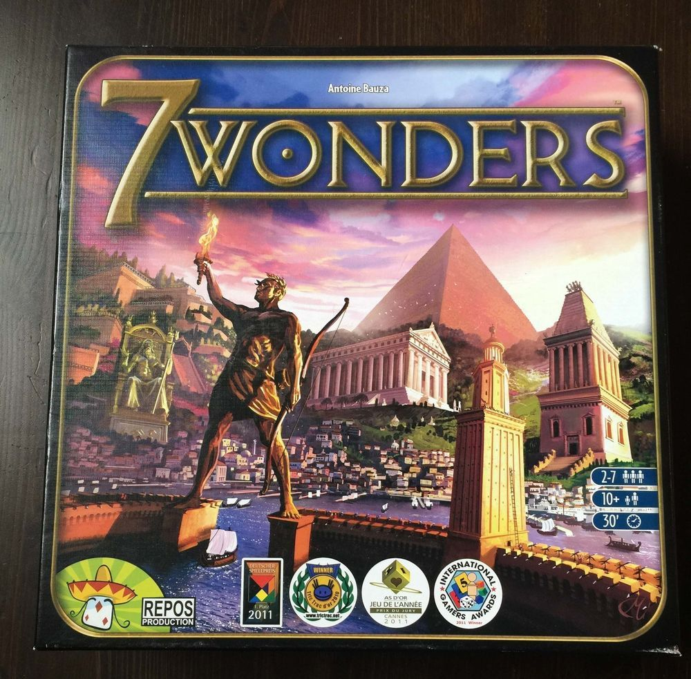 7 Wonders Game Card Board Game Strategy Fun Family Ancient 30 Awards Build