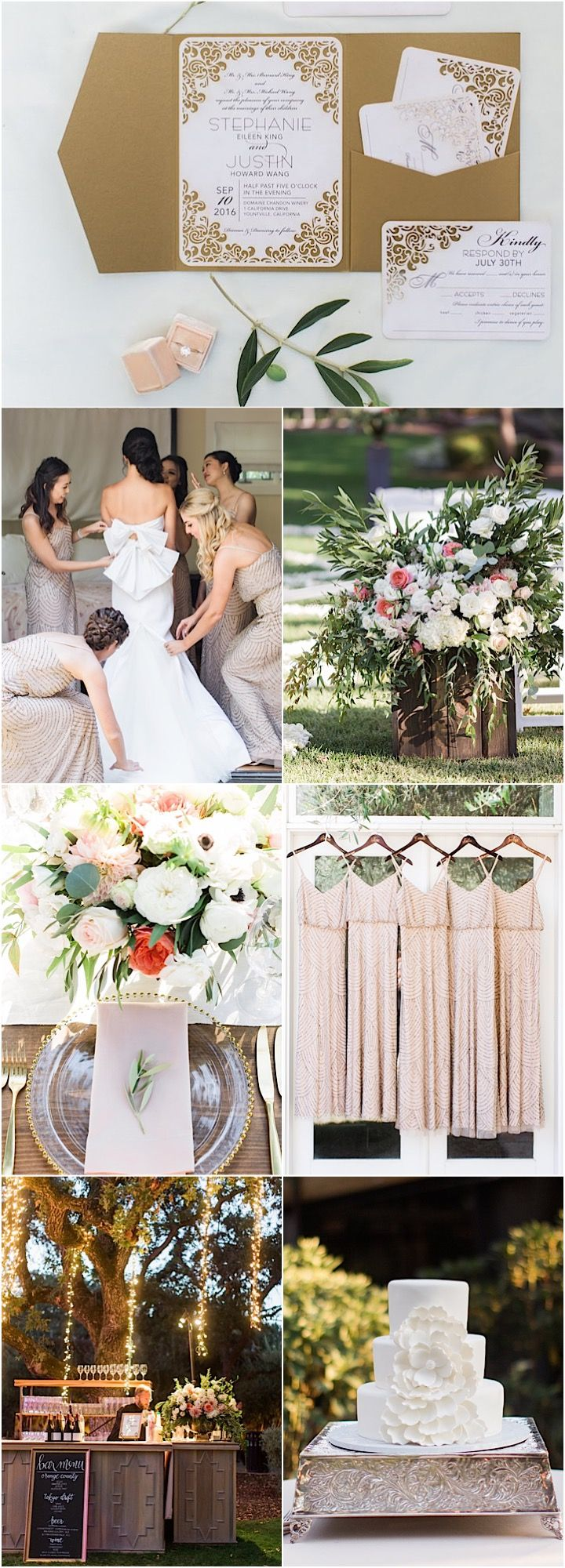 Fall outdoor wedding dresses  A Picturesque September Napa Wedding  Rustic outdoor Reception and
