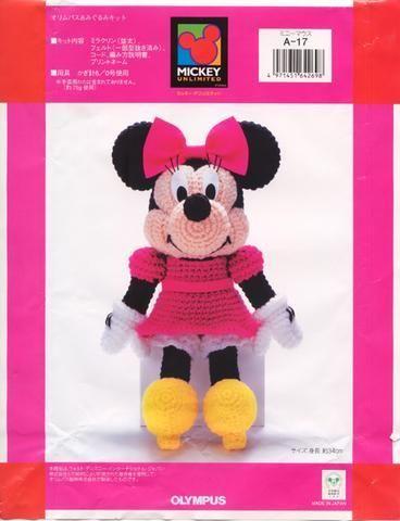 Minni de Disney Amigurumi - Patrón Gratis en Diagramas Japoneses ...