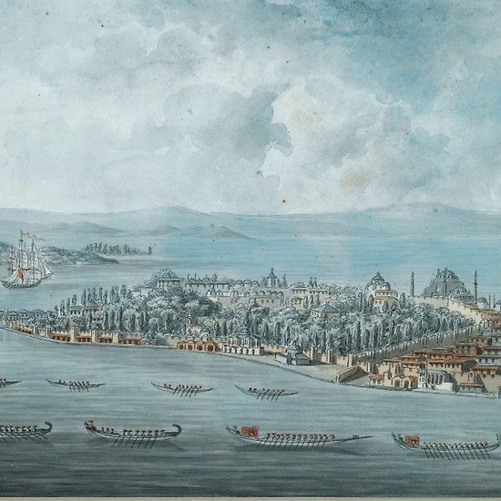 French School 19TH CENTURY FRENCH FIVE VIEWS OF CONSTANTINOPLE