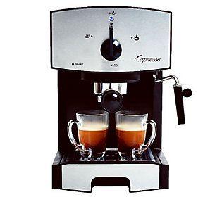 Capresso EC50 Espresso & Cappucino Machine — QVC.com #cappuccinomachine