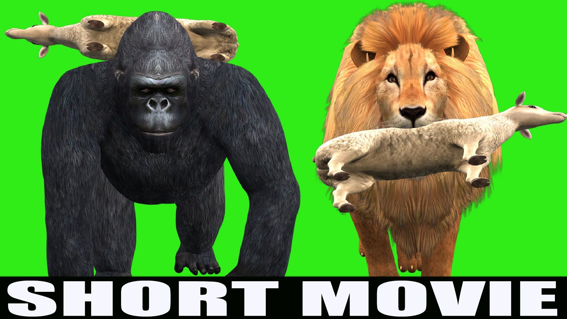 Funny Animated Short Movie Funny Story Gorilla Steals