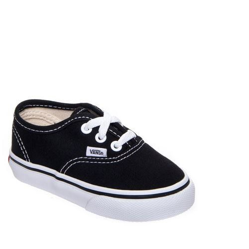 Vans AUTHENTIC, Unisex-Kinder Sneakers, Schwarz (Black BLK), 23.5 EU