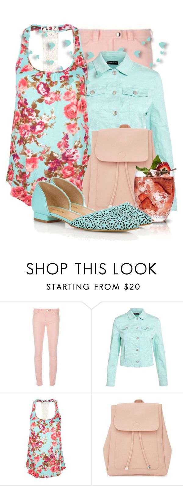 """""""Pink Leather-Look Backpack"""" by tasha1973 ❤ liked on Polyvore featuring Balenciaga, Gerry Weber, Full Tilt, New Look and Talbots"""