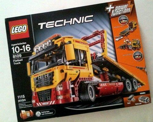Lego Technic 8109 Flatbed Truck New SEALED Set | eBay http://stores.ebay.com/VHTF-bricks