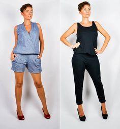 Der Velara Overall ist geeignet für Anfänger. Ein Kleidungsstück mit viel Wandelbarkeit. Sportlich lässig oder auch edel. Der Schnitt bietet viel Spielraum für deine Kreativität.  Kann mit 2 verschiedenen Oberteilen genäht werden. Das Rückenteil ist dabei immer gleich . Nur das Vorderteil verändert sich  Keine Reißverschlüsse oder Knöpfe.  Du erhälst  Schnittdateien.  1. Hosenteil .   2. Oberteil mit Trägern  3. Überlappendes Oberteil vorderer Schnittteil.  Für Jersey, Viskosejersey, ab 5 %…