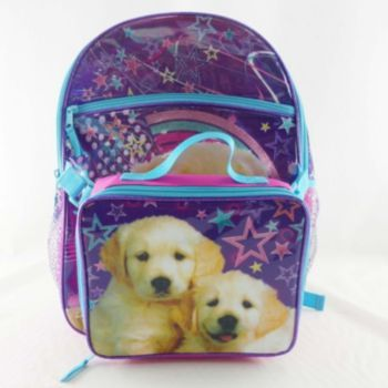 Puppy Backpack & Lunch Bag Set - Kids | lucy school | Pinterest ...
