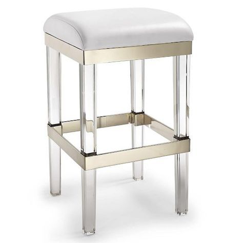 Fulham Acrylic Backless Bar Stool In 2019 Backless Bar
